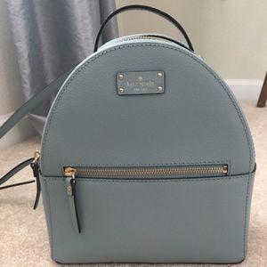 Kate Spade Smoke Blue Backpack New
